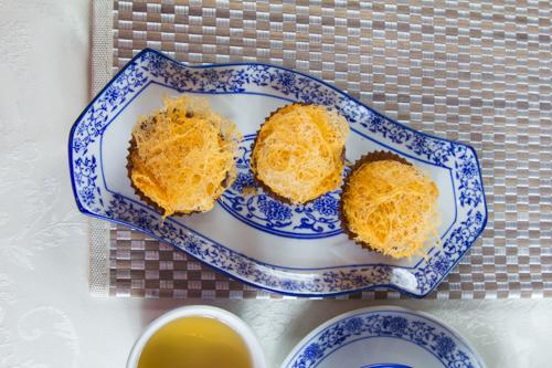 【三件傳統中式點心油炸銀絲蘿蔔】印刷級的美食相