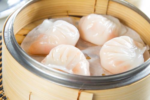 【蒸籠蒸傳統中式點心蝦餃】下載即用超方便餐牌相片