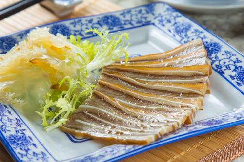 【中式餐前涼拌小吃切片鹵水豬耳】給餐館的好用素材