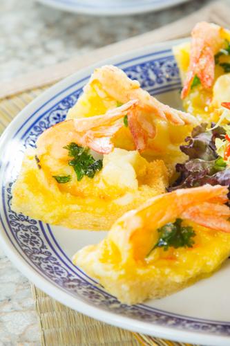 【惹味香口小食前菜酥炸蝦多士】印刷級的美食相