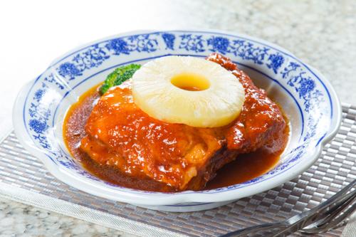 【紅燒豬腩肉配菠蘿】印刷級的美食相