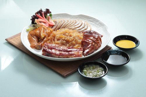 【叉燒燒鵝髀油雞海蜇燻蹄燒味鹵水拼盤】下載即用超方便餐牌相片