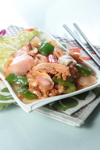 【鑊氣小菜子薑青椒炒雞柳】給餐館的好用素材
