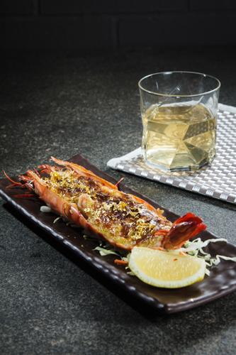【豪華日本海鮮料理金箔味噌醬燒焗大蝦】可以簡單輕鬆下載的食物相
