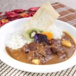 野菜牛肉カレーライスのグルメ写真素材