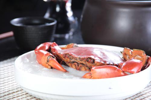 新鮮な蟹雑炊