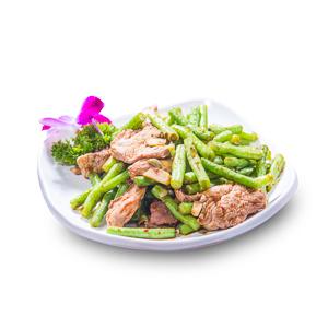 【豬肉炒四季豆】給餐館做餐牌時極便利的好用素材