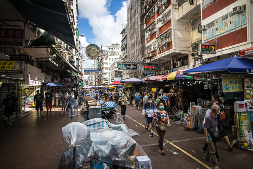 sham shui po_010_On September 16, 2020, people shop at the stalls and vendors on Apliu Street