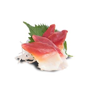四片北寄貝刺身的去背退地食物素材相片