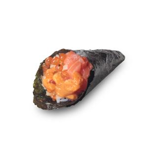 海膽三文魚子手卷的去背退地食物素材相片