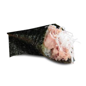 蔥吞拿魚蓉手捲的去背退地食物素材相片