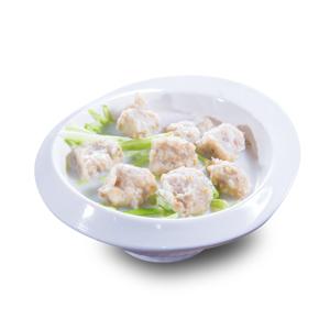 【鯪魚球生菜湯】飲食業專用退地無背景素材圖像