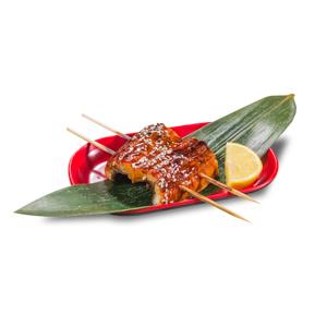 蒲燒鰻魚串的去背退地食物素材相片