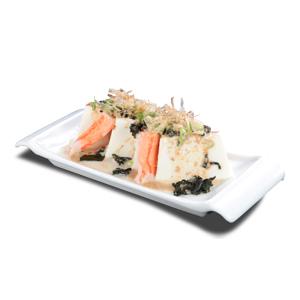 蟹棒豆腐沙律的去背退地食物素材相片