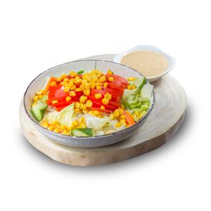 番茄玉米沙律的去背退地食物素材相片