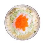 蟹籽黃瓜沙拉鳥瞰拍攝的去背退地食物素材相片