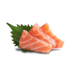 【三片三文魚刺身】節省時間專業無背景食用素材