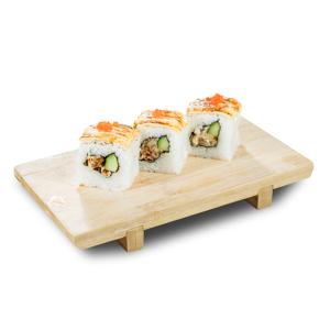 芝士軟殼蟹卷壽司的去背退地食物素材相片