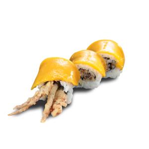 芒果軟殼蟹卷壽司的去背退地食物素材相片