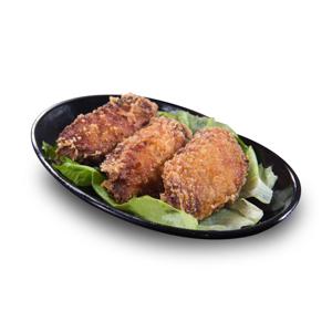 三隻鮮炸雞中翼的去背退地食物素材相片