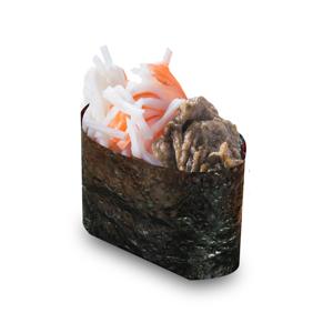 【蟹肉蟹膏軍艦壽司一件】退地PSD檔案圖庫相片