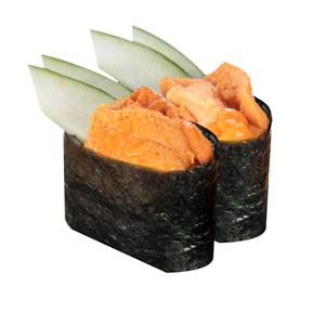 【海膽黃瓜軍艦壽司兩件】下載即可用於任何風格平面設計的超方便餐牌相片