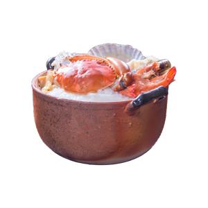 蟹肉扇貝粥的去背退地食物素材相片