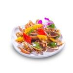 豉椒炒蜆的去背退地食物素材相片