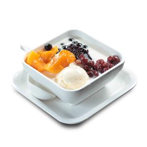 芒果紅豆冰淇淋甜湯的去背退地食物素材相片