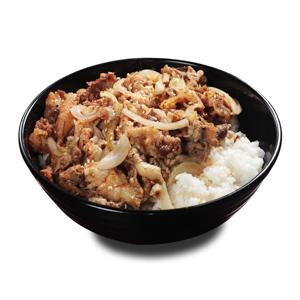 和風洋蔥牛肉飯的去背退地食物素材相片