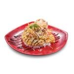 蒲燒鰻魚滑蛋飯的去背退地食物素材相片