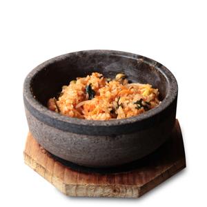 韓式香辣石鍋飯的去背退地食物素材相片