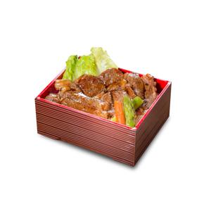 燒和牛扒日式飯的去背退地食物素材相片