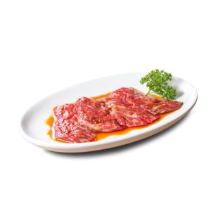 燒肉用醬油調味牛肉近橫隔膜部位的去背退地食物素材相片