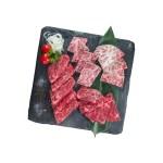 生和牛牛肉什錦的去背退地食物素材相片