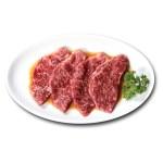 燒肉用醬油調味特上牛小排的去背退地食物素材相片