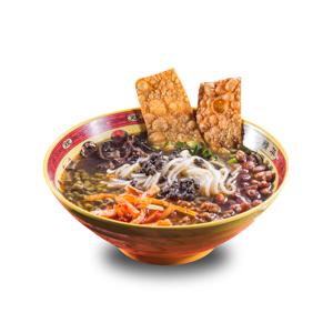 潮汕雜錦酸菜湯米線的去背退地食物素材相片