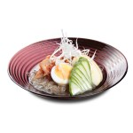 泡菜青瓜全熟蛋韓式水冷麵的去背退地食物素材相片