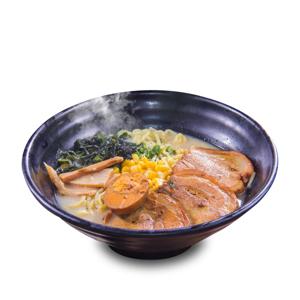 燒日本叉燒鹵水蛋豬骨湯拉麵的去背退地食物素材相片