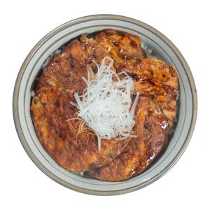 蔥油牛肉丼飯的去背退地食物素材相片