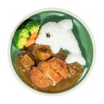 豬排咖哩海豚飯的去背退地食物素材相片