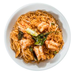泰式大蝦炒米粉的去背退地食物素材相片