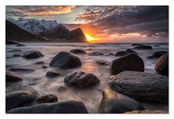 Unstad Sunset | © Reinold Gober