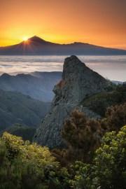 Teneriffa Sunrise La Gomera Clouds