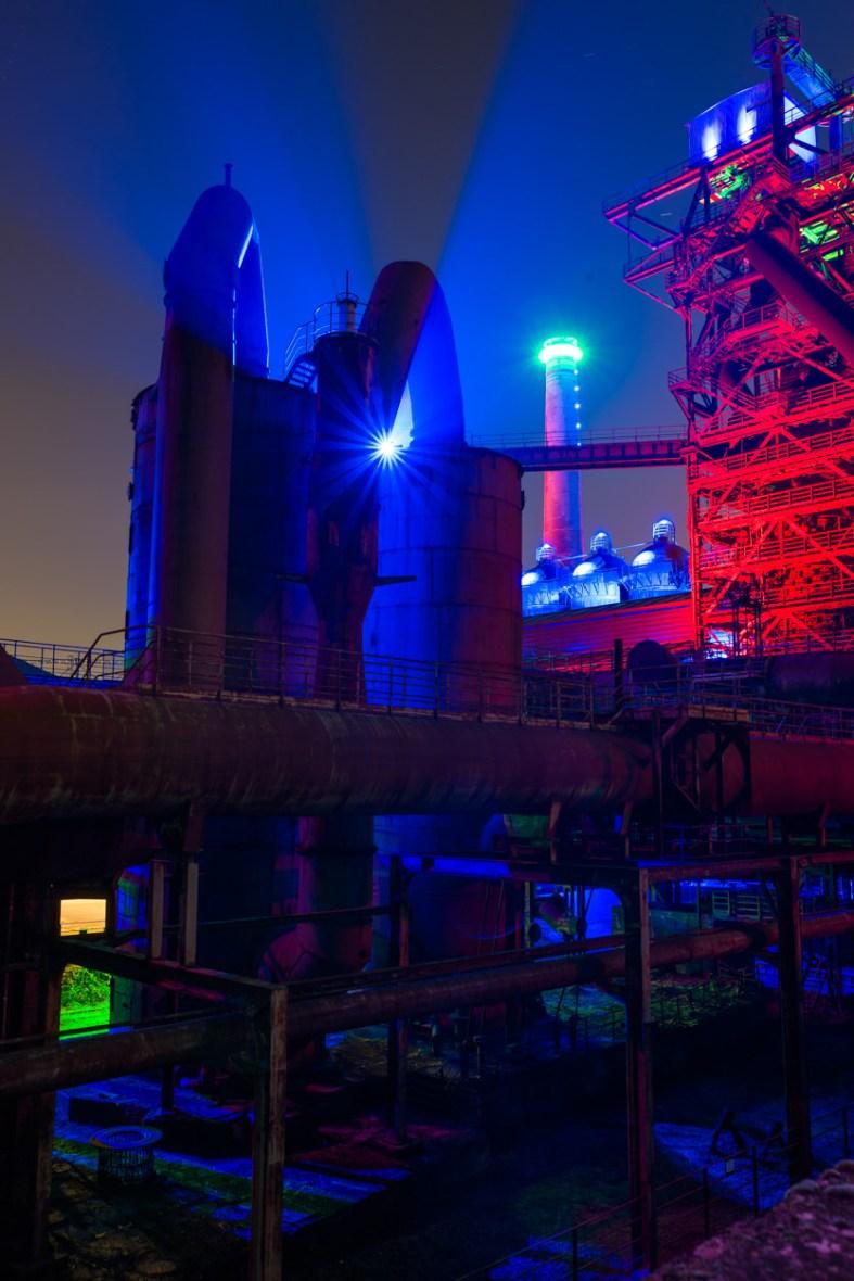 Illumination im Landschaftspark Duisburg Nord