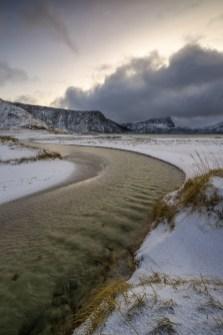 Fotoreise Haukland Beach © Raik Krotofil, Lofoten, Winter, Schnee, Eis, Polarlicht, beste Fotoreise, Norwegen