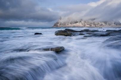 Uttakleiv © Raik Krotofil, Norwegen, Lofoten, Polarlicht, Aurora, Schnee, Winter, Januar, beste Fotoreise