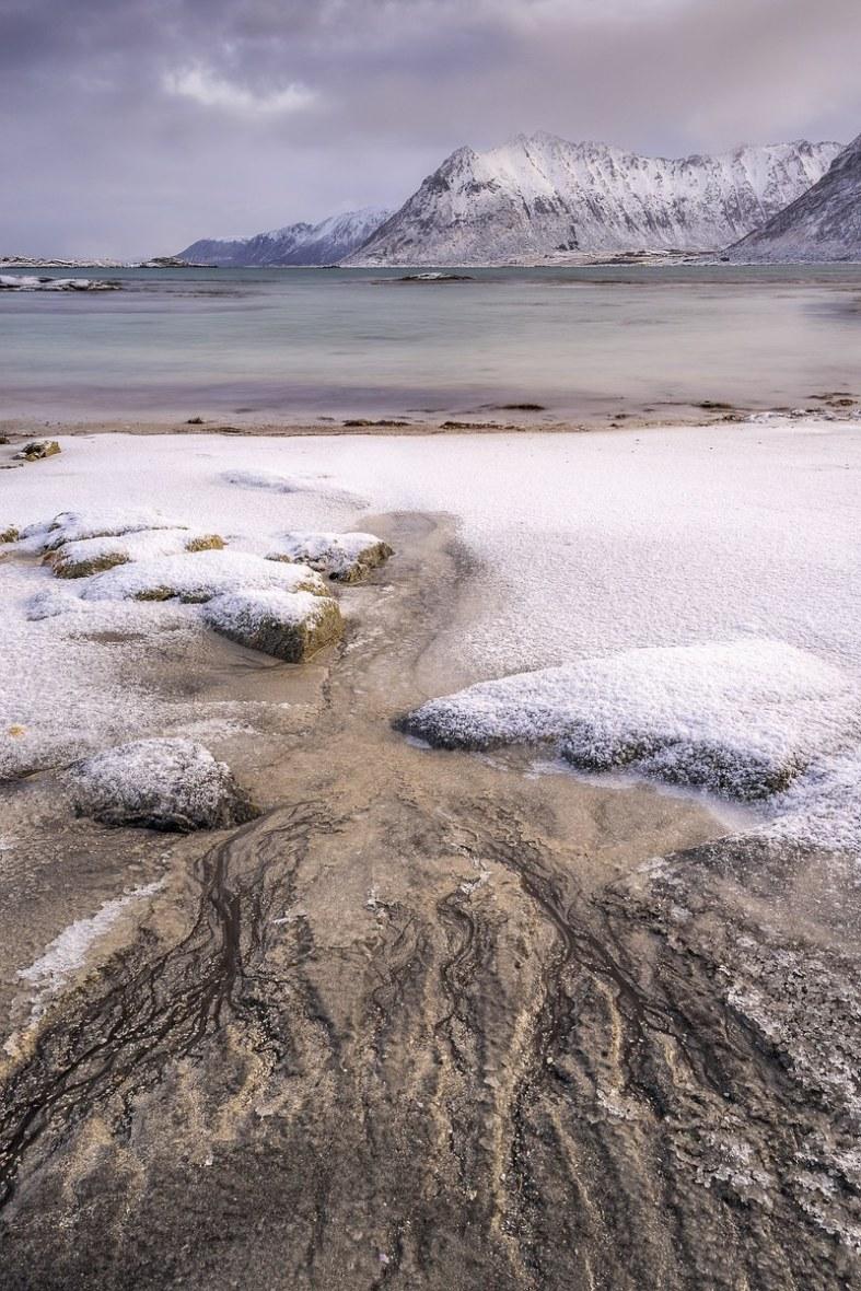 Fotoreise Norwegen, Lofoten, Polarlicht, Aurora, Schnee, Winter, Januar, beste Fotoreise