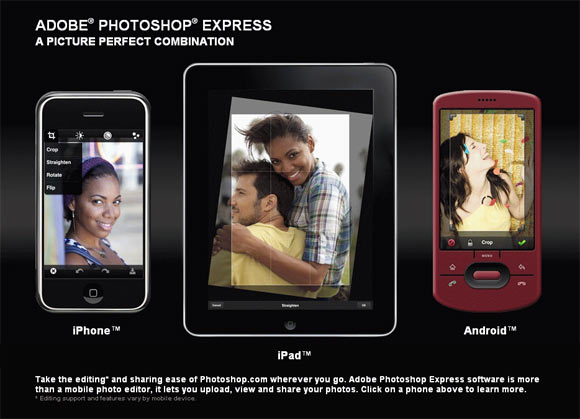 Photoshop Express for iPad, iPhone and Android