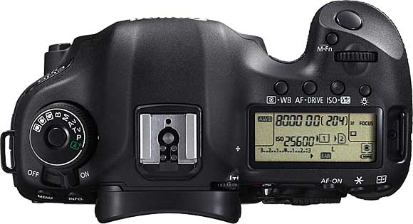 Canon EOS 5D Mark III Top View